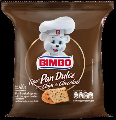 BIMBO pan dulce con chips x400g
