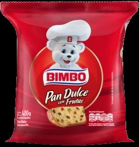 BIMBO pan dulce con frutas x400g