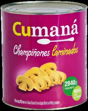 CUMANA champignones laminados x2,84kg