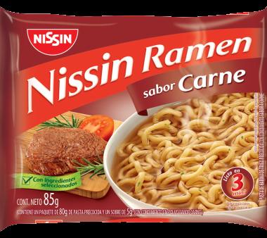 NISSIN sopa ramen carne x85g