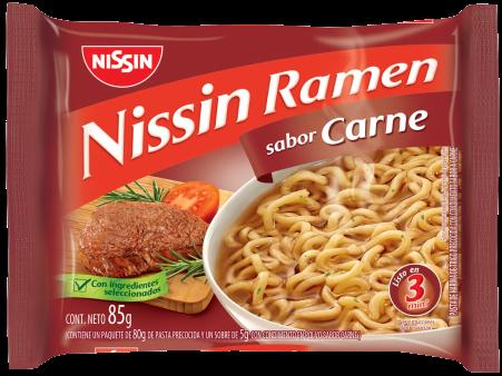 NISSIN sopa ramen carne