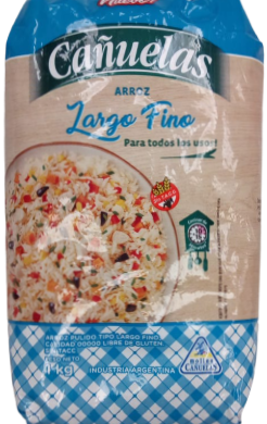 CANUELAS arroz grano largo x1Kg