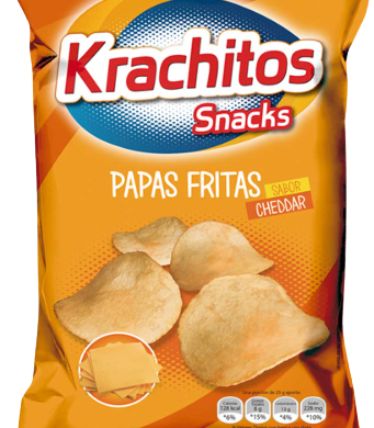 KRACHITOS papas fritas cheddar x350g