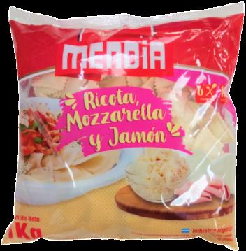 MENDIA ravioles muzz/jam/ricot x1kgbolsa